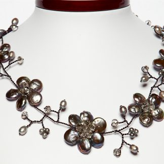 e64aa2aa3a60d Unusual Black Freshwater Pearl Necklace - Conwy Pearls