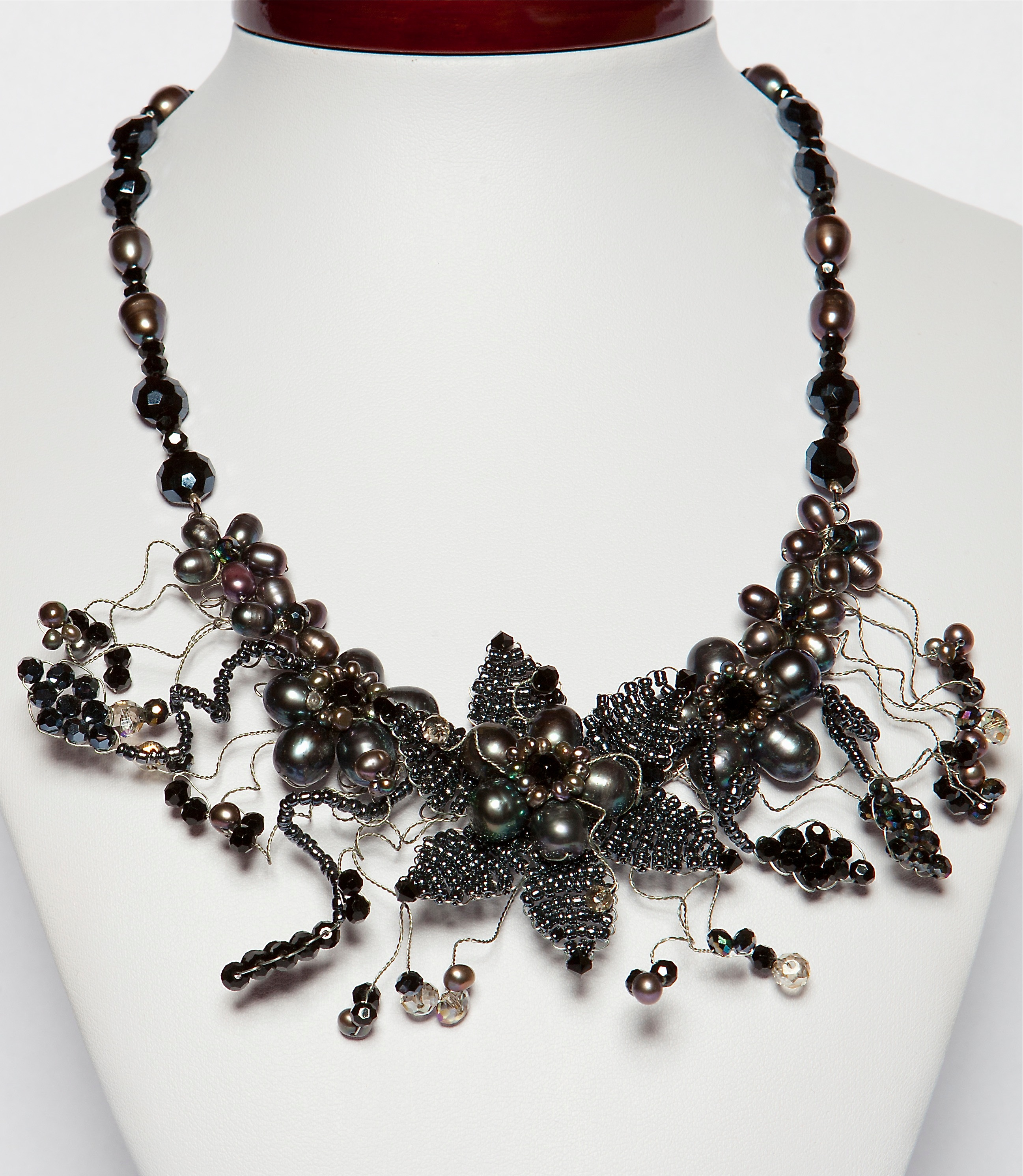 string necklace pearl the black pearls way jewelry products image
